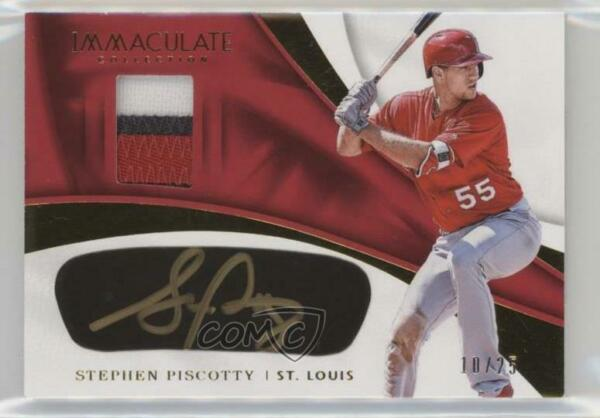 2017 Panini Immaculate Carbon Material Signatures 25 Stephen Piscotty Auto $17.79