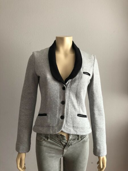 NWT Love Moschino Jacket Gray with Black Lining Size 4 US $79.99