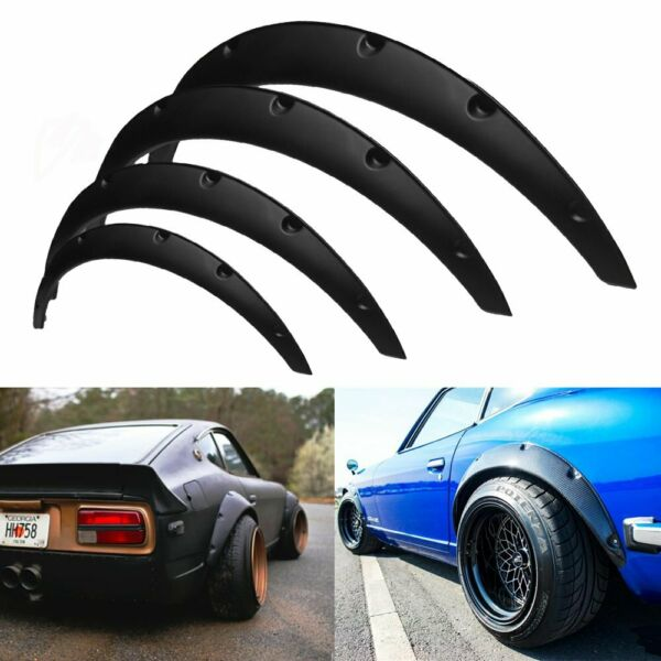 4Pcs JDM Universal Fender Flares 50mm 75mm Wide Body Kit Wheel Arches Durable PU $46.89