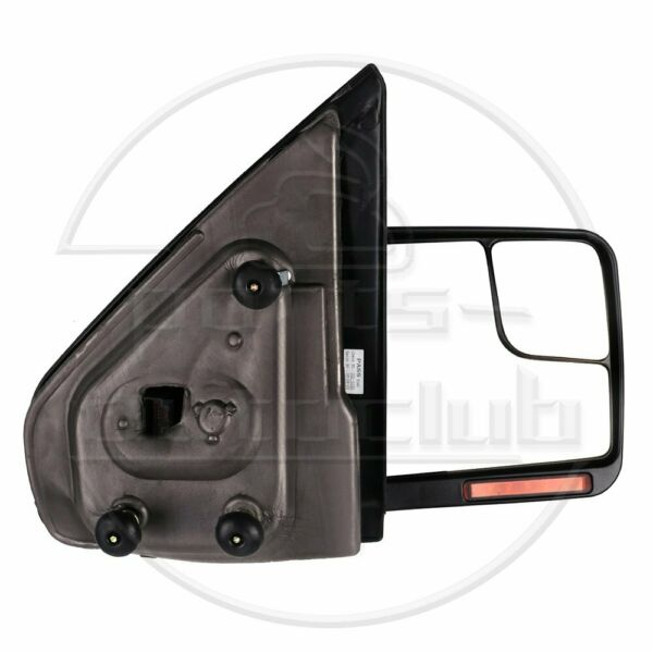 Passenger Side Tow Mirror Black 04-14 Ford F150 Power Heated Signal Puddle Light