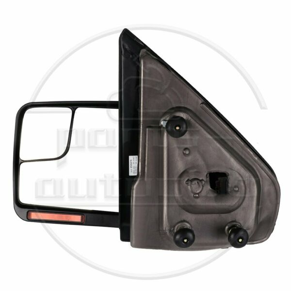 Driver Side Tow Mirrors Black 2004-14 Ford F150 Power Heated Signal Puddle Light