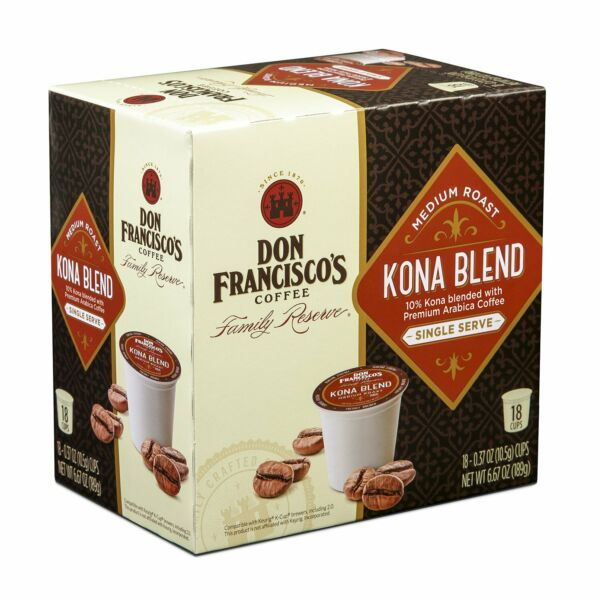 Don Francisco's Kona Blend Coffee 18 to 90 Keurig K cups Pick Any Size Free Ship
