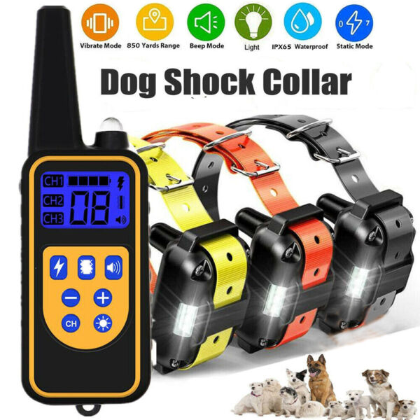 Wireless Electric Dog Fence Pet Containment System Shock Collars For 123 Dogs $47.65