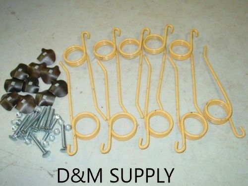 10 Pack Hay Rake Teeth and hold down clips to fit New Holland 55 56 57 256 258   $45.60