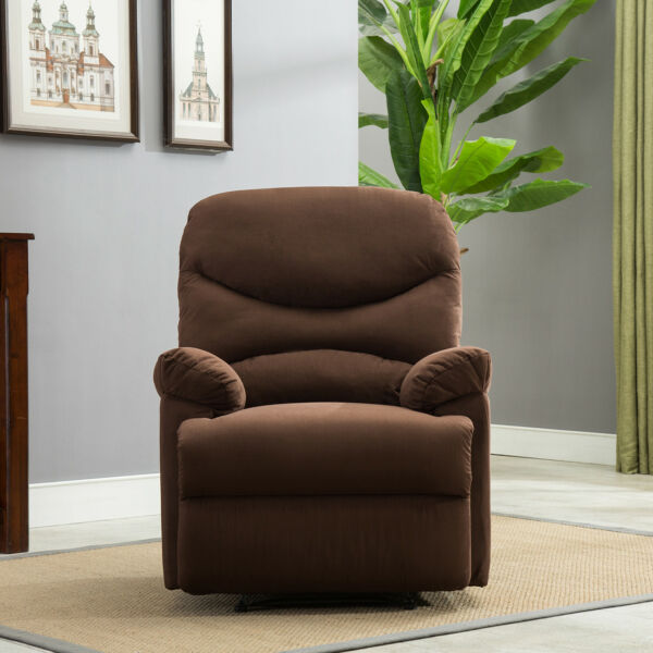 Recliner Chair Sofa Living Room Furniture Microfiber Reclining Padded Seat Brown $249.99