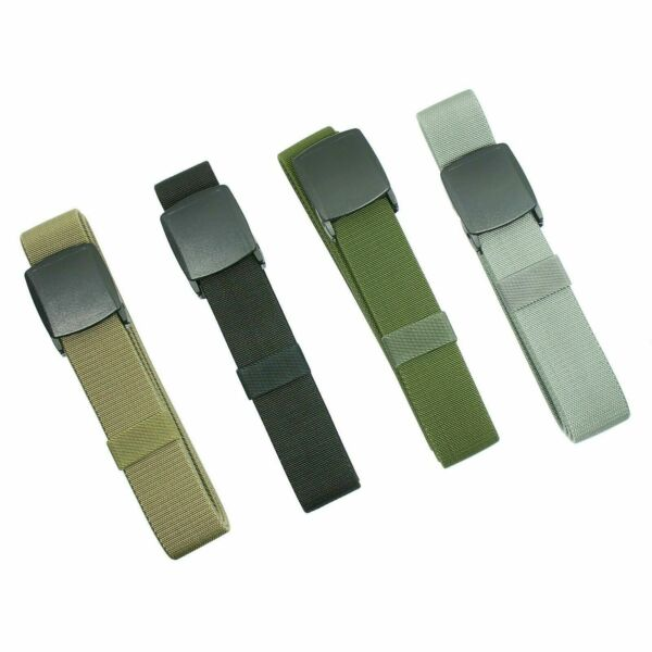 Men's Universal Tactical Heavy Duty Elastic Military Belt  Plastic Cam Buckle $8.51