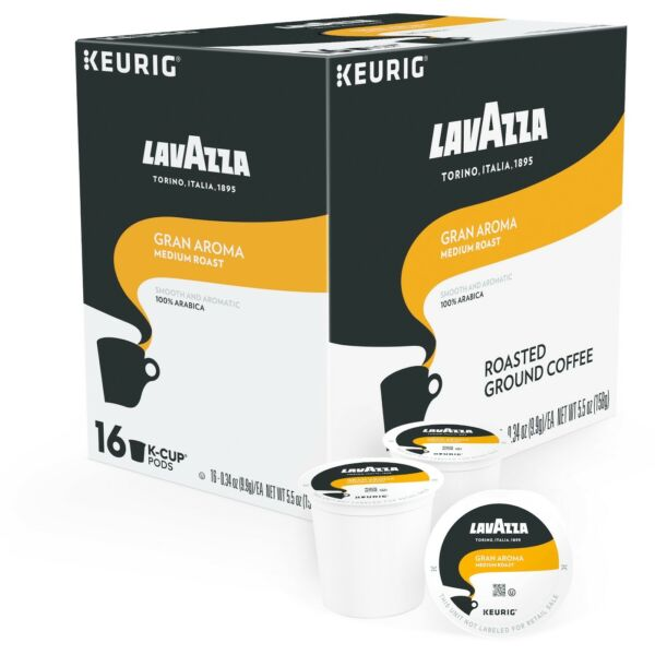 Lavazza Gran Aroma Coffee 16 to 64 Keurig K cups Pick Any Quanity FREE SHIPPING