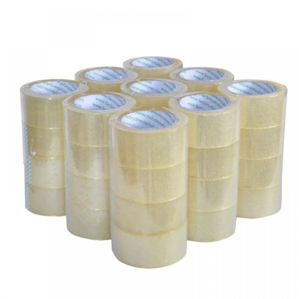 Heavy Duty Sealing Pack Clear Packing Shipping Box Tape 12 Rolls Carton