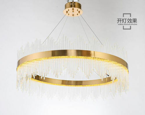 Post modern living room crystal glass chandelier restaurant creative hotel lamp