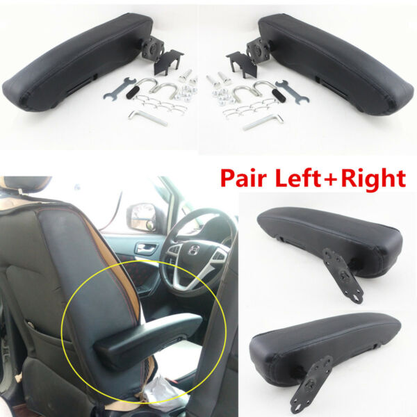 2x Soft PU Leather Truck Seat Armrest Console Box Comfortable Car Seat Arm Rest