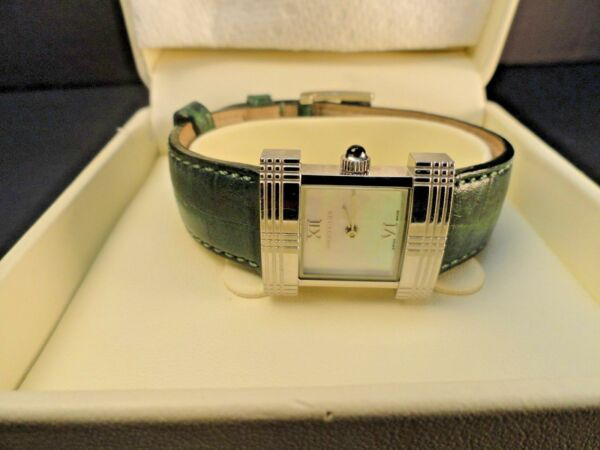 Ladies Used Burberry Watch with Green Leather Band $165.00