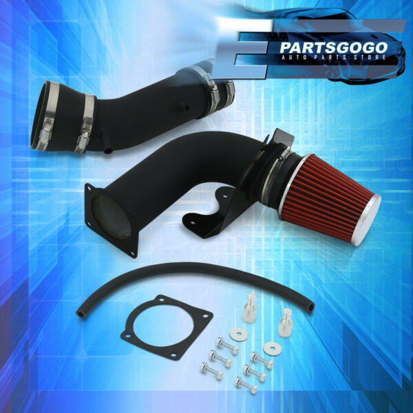 Fits 99-04 Ford Mustang 3.8L V6 Black Cold Air Intake System w Red Filter MT