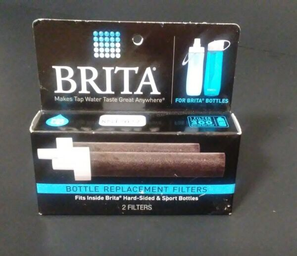 Brita Filter Bottle 2 Replacement Filters for Brita Hard Sided and Sport Bottles