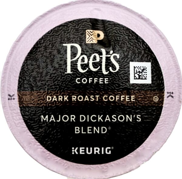 Peet's Coffee Major Dickason Blend Dark-Roast Keurig K-Cup Pods
