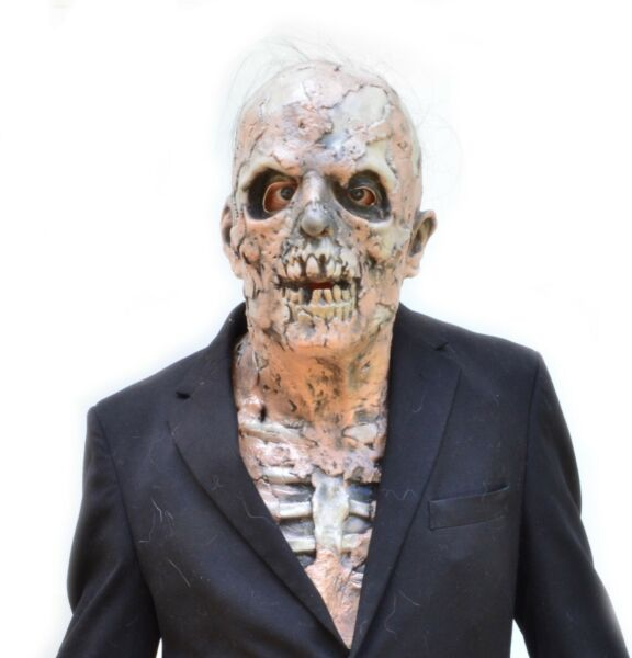 Scary Halloween Walking Dead Decaying Zombie Skeleton Skull Latex Mask
