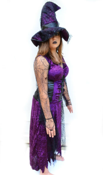 Womens Witch Costume for Halloween Costume Party Medium $18.99