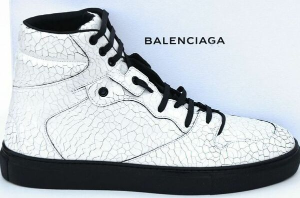 BALENCIAGA New sz 41 - 8 Authentic High Top Designer Mens Sneakers Shoes white
