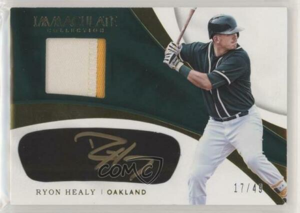 2017 Panini Immaculate Carbon Material Signatures 49 Ryon Healy Rookie Auto $29.28