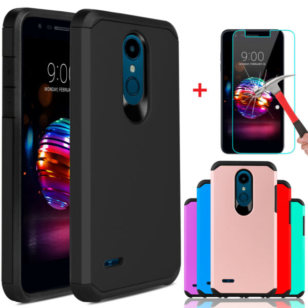 For LG K30Xpression PlusPremier Pro LTE Case Cover With Glass Screen Protector