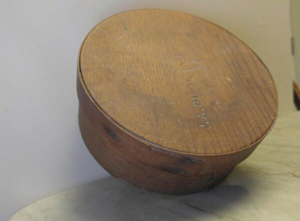 Vintage Antique Primitive Wood Pantry Box Murdock and Co Stamped 6.5