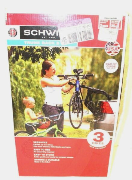 SCHWINN 3 Bike Bicycle Trunk Rack Brand New In Box $99.99