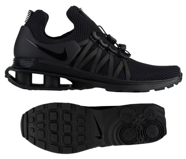 New NIKE Shox Gravity Sneaker Mens triple black all sizes