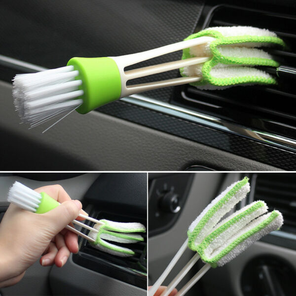 Microfibre+PP+PE Car Air Outlet Vent Dashboard Dust Cleaner Cleaning Brush Tool