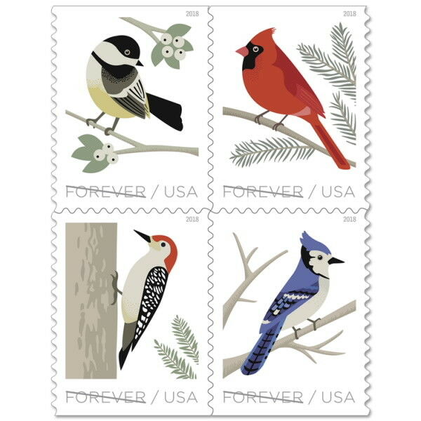 USPS New Birds in Winter Booklet of 20