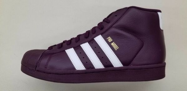ADIDAS ORIGINALS PRO MODEL WINE RED WHITE GOLD MENS SIZE SNEAKERS AC7646