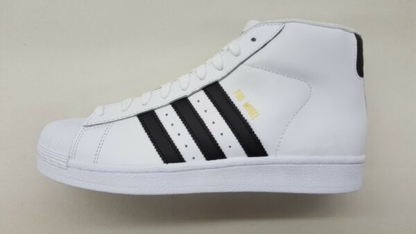ADIDAS ORIGINALS PRO MODEL WHITE BLACK GOLD MENS SIZE SNEAKERS CLASSIC S85956