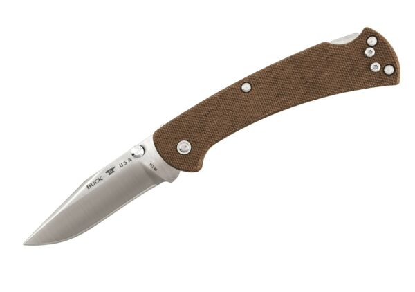 Buck Knives 112 Slim Pro Brown Micarta BOS S30V Ranger Folding Knife W Clip