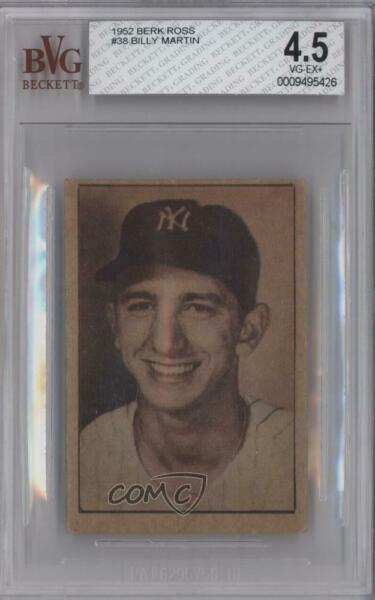 1952 Berk Ross Hit Parade of Champions Billy Martin BVG 4.5 Rookie