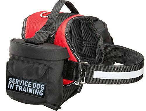 Doggie Stylz SERVICE DOG IN TRAINING Harness vest Removable Saddle Bags Backpack $35.99