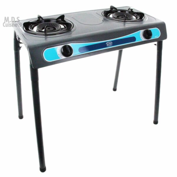 Double Head Propane Gas Burner Portable Stand Camping Outdoor Stove Stainless $89.99