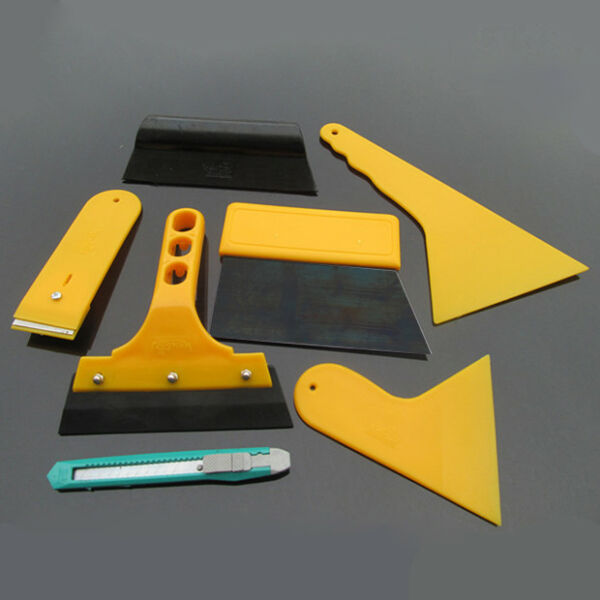 Car Window Light Lamp Scraper Wrapping Tint Vinyl Film Squeegee Cleaning Tools