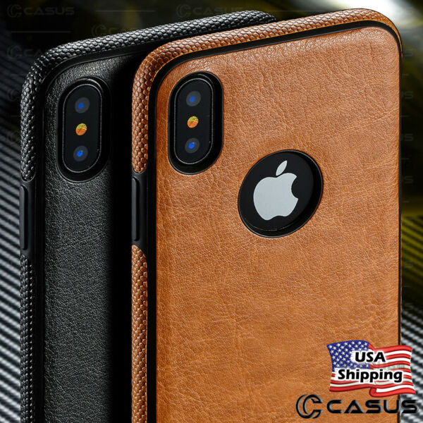 For Apple iPhone XS MAX XR SLIM Luxury Leather Back Ultra Thin TPU Case Cover $9.95
