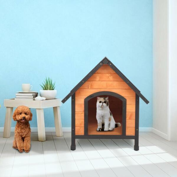 Waterproof Wood Wooden Medium Dog House Kennel Cabin Pet Puppy Cage Outdoor