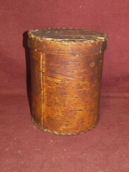 Old or Antique American Indian Birch Bark Box Poss. Seneca Adirondack