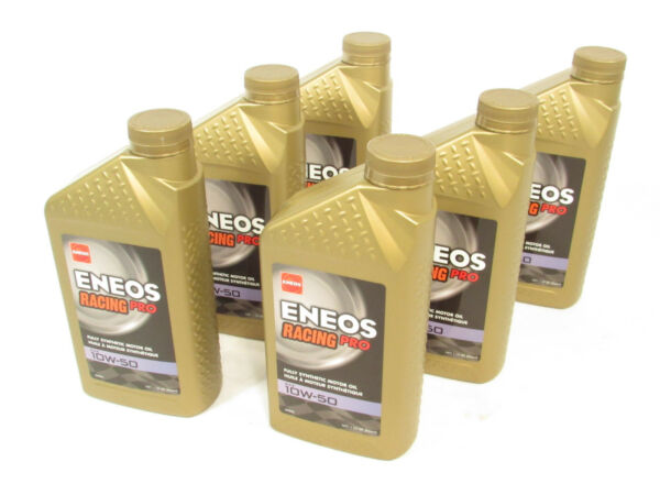 ENEOS Racing Pro SAE 10W-50 Fully Synthetic Motor Engine Oil (6 1-Quart Bottles)