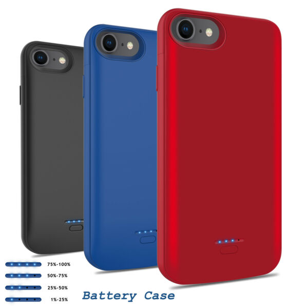 For iPhone 66s78 Plus Battery Charging Case Cover External Power Bank Charger