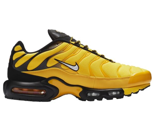 Nike Air Max Plus Frequency Pack Mens AV7940-700 Yellow Black Shoes Size 8.5