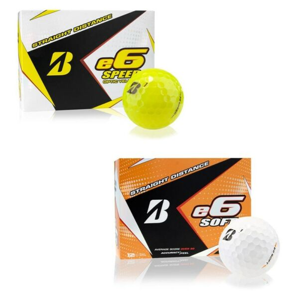 NEW Bridgestone e6 Speed or Soft Golf Balls - Choose Color, Model