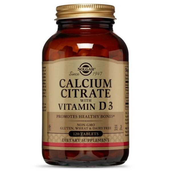 Solgar Calcium Citrate with Vitamin D3 120 Tablets FREE Shipping FRESH $13.98