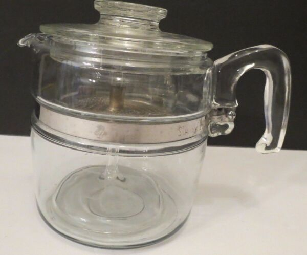 VINTAGE~PYREX GLASS PERCOLATOR (STOVE TOP COFFEE POT) ~7756-B~6 CUP~COMPLETE