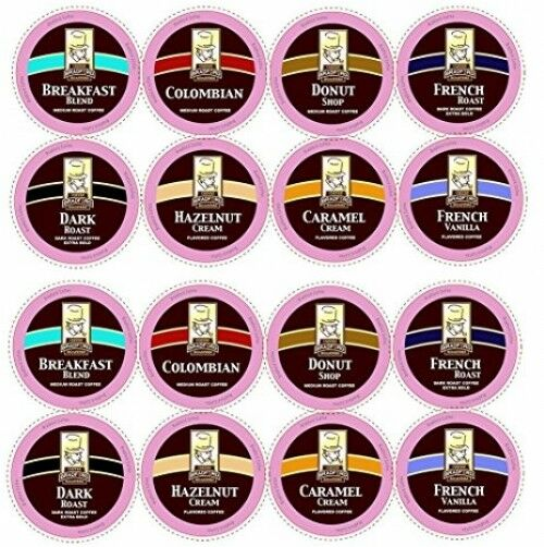 100ct Variety Pack for Keurig K-cups 8 Assorted Single Cup Sampler 20% more by