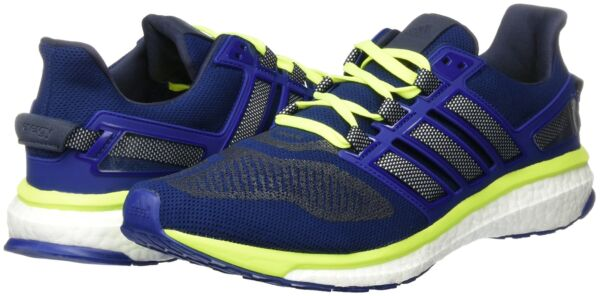 Adidas Men's Energy Boost 3 Running Shoes Sneakers Blue/Yellow/White 8 M US