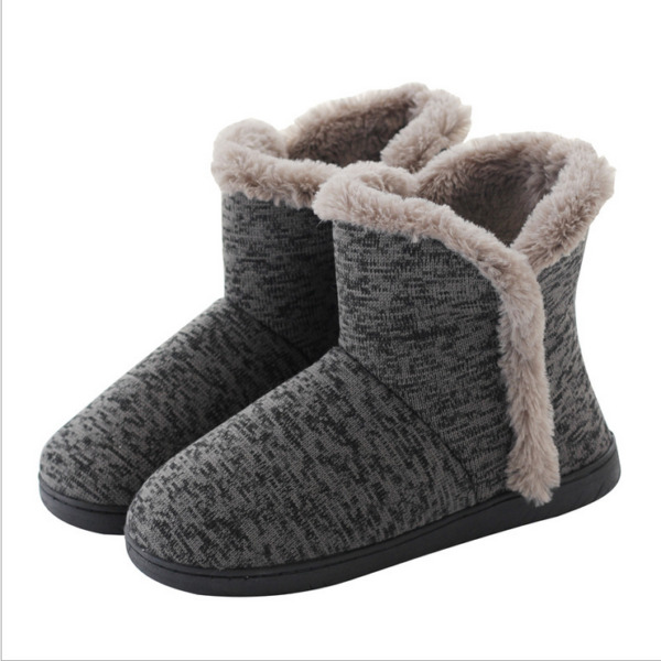 Women Cozy Plush Fleece Bootie Slippers Winter Indoor Outdoor House Shoes