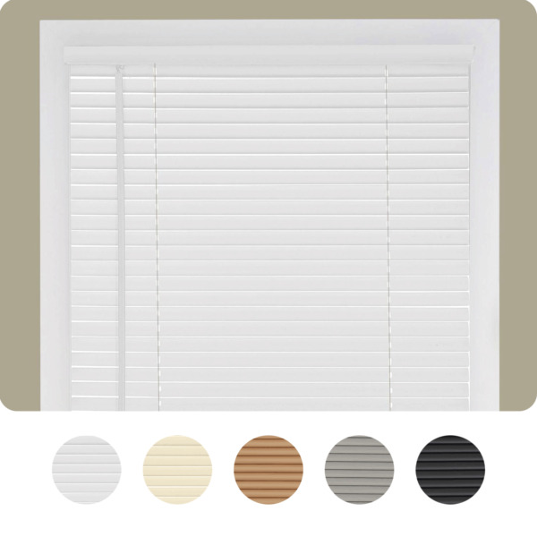 Cordless Window Blinds Mini Blinds 1quot; Black White Alabaster Wood Vinyl Blind