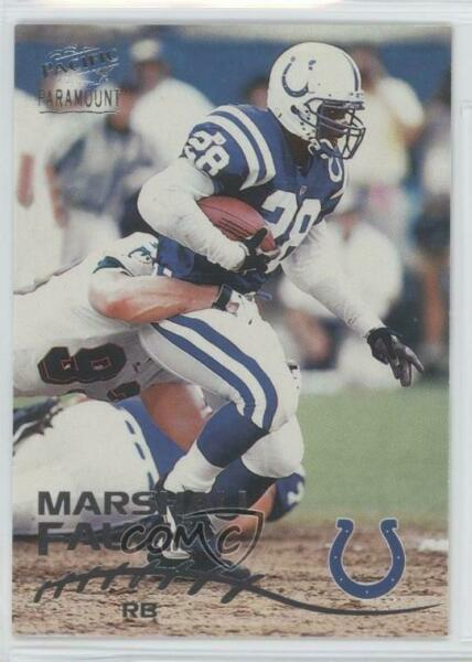 1998 Pacific Paramount Silver #97 Marshall Faulk Indianapolis Colts Card