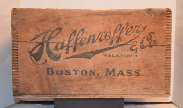 RARE HAFFENREFFER & CO.BOSTON MA-Beer Advertising Wooden CrateBox 12